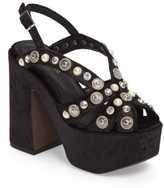 Jeffrey Campbell Women's Briston Embellished Platform Sandal