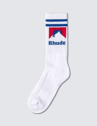 Rhude Mountain Logo Socks