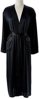 Kumi Kookoon Single-Sided Long Robe - Midnight Large - Black