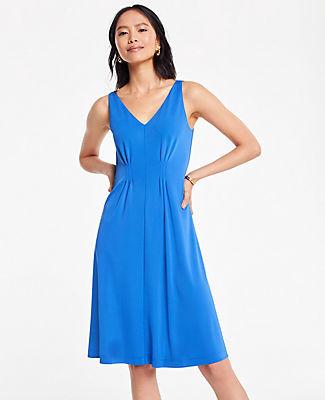 Ann Taylor Petite Pleated Flare Dress