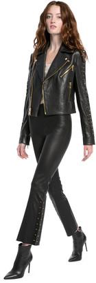 Alice + Olivia Kylyn High Waisted Leather Pant