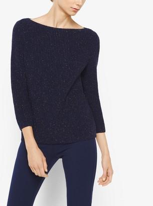 Michael Kors Collection Metallic Wool-Blend Sweater
