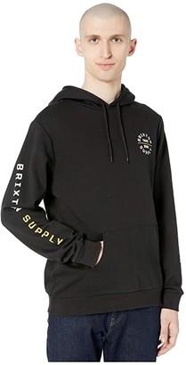 Brixton Oath VI Intl Hoodie (Black/Yellow/White) Men's Clothing