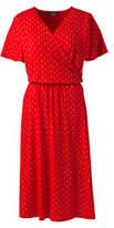 Lands' End Women's Tall Flutter Sleeve Surplice Dress-Moonlight Navy Floral