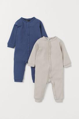 H&M 2-Pack Ribbed Pyjamas