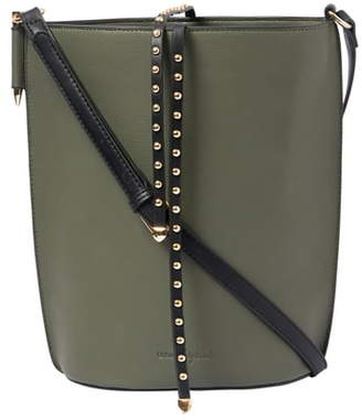 Urban Originals Lights Camera Studded Vegan Leather Bucket Bag