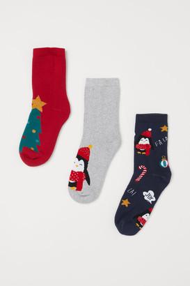 H&M 3-Pack Terry Socks
