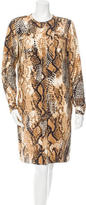 Loro Piana Silk Snake Print Coat w/ Tags