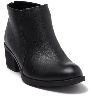 B.O.C. By Born Bushey Leather Block Heel Bootie