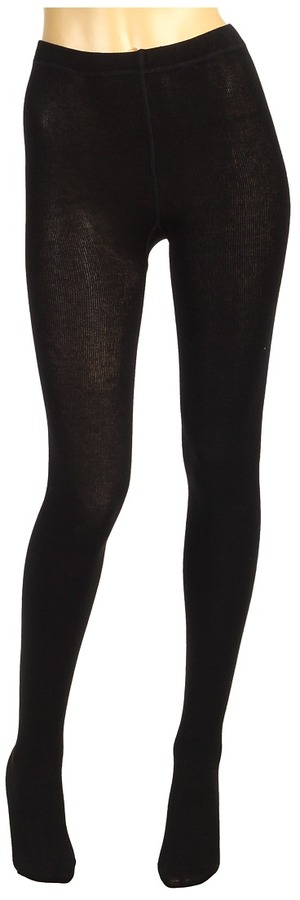 Cole Haan Wool Back Seam Tight (Black) - Hosiery