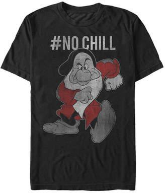 Disney Men Snow White Grumpy No Chill Vintage Short Sleeve T-Shirt