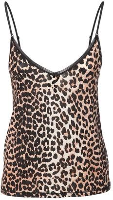 Ganni Printed Stretch Jersey Camisole Top