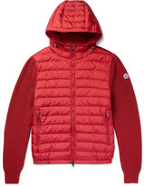 Moncler Maglione Wool-blend And Shell Down Jacket