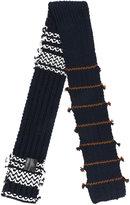 Prada striped knit scarf