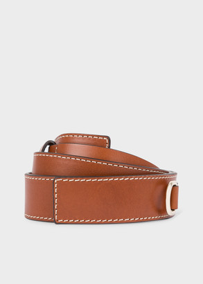 Paul Smith Women's Tan Leather Belt With Buckle Detail