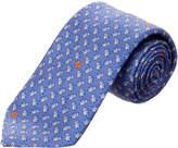 Ermenegildo Zegna Ermengildo Zegna Blue Leaves Silk Tie