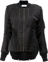 Faith Connexion classic fitted bomber jacket - women - Cotton/Acrylic/Polyamide/Virgin Wool - S