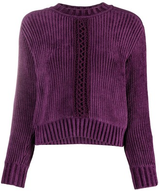 Alberta Ferretti Cut-Out Rib Knit Jumper
