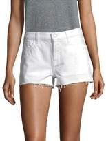 J Brand Low-Rise Released Hem Shorts