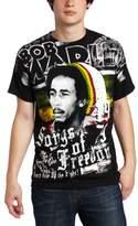 Zion Rootswear Men's Bob Marley Short Sleeve Freedom T-Shirt