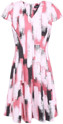DKNY Fresh Perspective Flared Printed Scuba Dress
