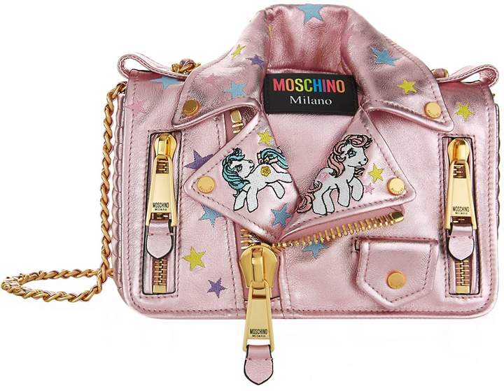 Moschino My Little Pony Biker Jacket Shoulder Bag