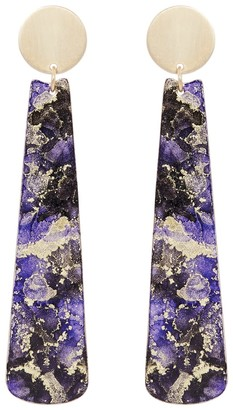 Odell Design Studio Gold Chopstick Earrings - Purple Haze