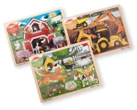 Melissa & Doug Melissa Doug Jigsaw Puzzle Bundle Farm, Construction and Pets
