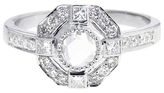 Sethi Couture Rose Cut Diamond Ring in White Gold