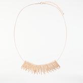 John Lewis Fan Necklace, Rose Gold