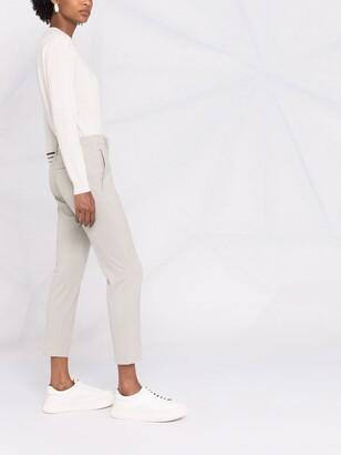 Brunello Cucinelli Monili-embellished cropped trousers