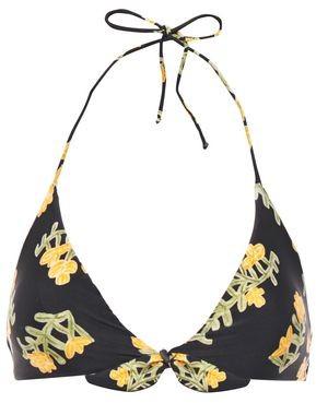 Vix Paula Hermanny Knotted Floral-print Triangle Bikini Top