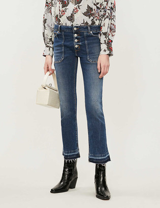 Zadig & Voltaire Londa Brut kick-flare mid-rise jeans
