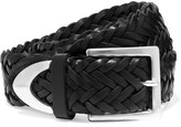 Rag & Bone Braided Leather Belt - Black