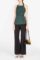 Rosetta Getty Tailored Wide-Leg Trousers