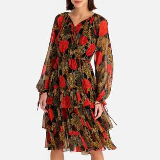 The Kooples Ruffled Voile Long-Sleeved Dress