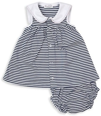Kissy Kissy Baby Girl's Summer Seas 2-Piece Stripe Dress & Bloomers Set