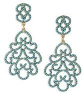 Kenneth Jay Lane Resin Clip-On Chandelier Earrings