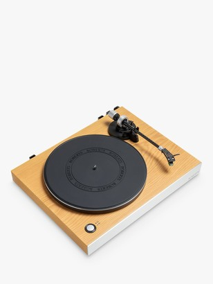 Roberts RT200 Two Speed USB Turntable, Natural Wood/Brushed Aluminium