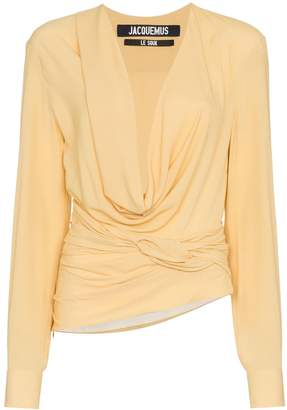 Jacquemus cowl neck long sleeved top