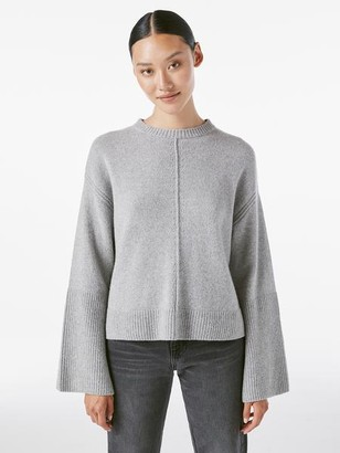 Frame Bell Sleeve Crew Sweater