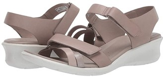 Ecco Felicia Ankle Strap Sandal (Brandy/Coffee/Mahogany Calf Leather/Cow Leather/Cow Nubuck) Women's Shoes