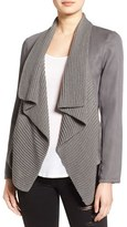 BB Dakota Women's 'Perkins' Mixed Media Drape Front Jacket