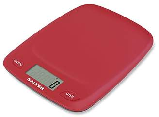 Salter Digital Kitchen Scales - 5000g Electronic Food Weighing, Slim Design Cooking Scale Home Appliance, LCD Display, Add & Weigh, Compact Storage, Easy to Clean, 15 Year Guarantee – Red