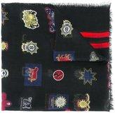 Alexander McQueen badge print scarf - men - Silk/Modal - One Size