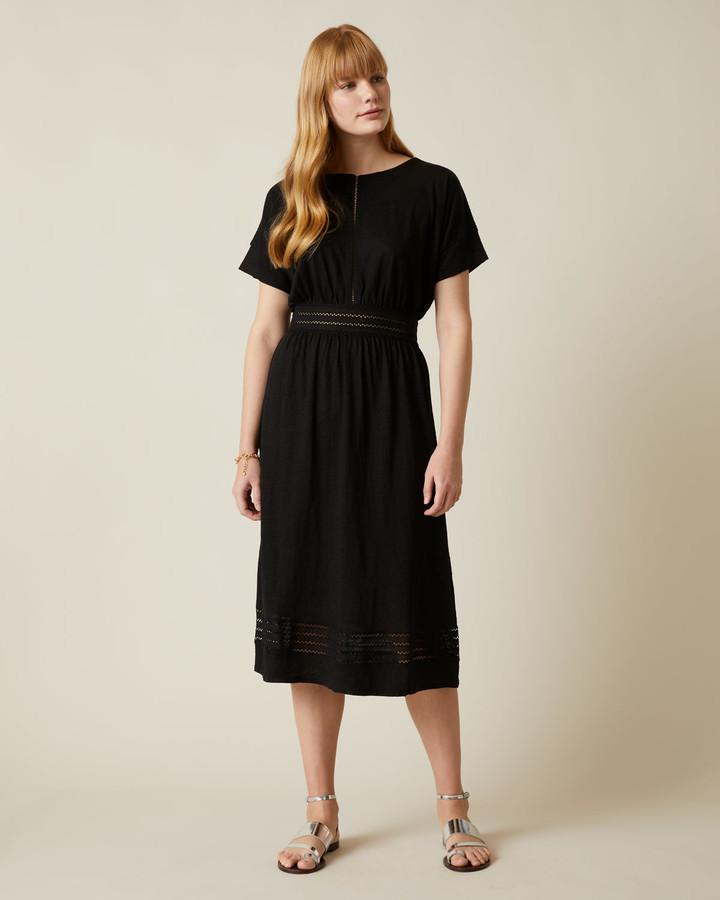 Jigsaw Linen Lace Jersey Dress