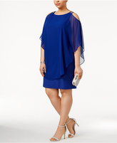 Xscape Evenings Plus Size Cold-Shoulder Sheath Dress