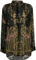Alberta Ferretti floral print sheer shirt - women - Silk - 42