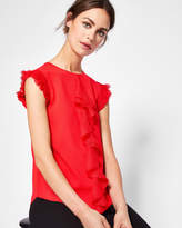 Ted Baker Frill detail knitted top