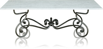 Trilogy Furniture Paris Wrought Iron Coffee Table With Marble Top Large